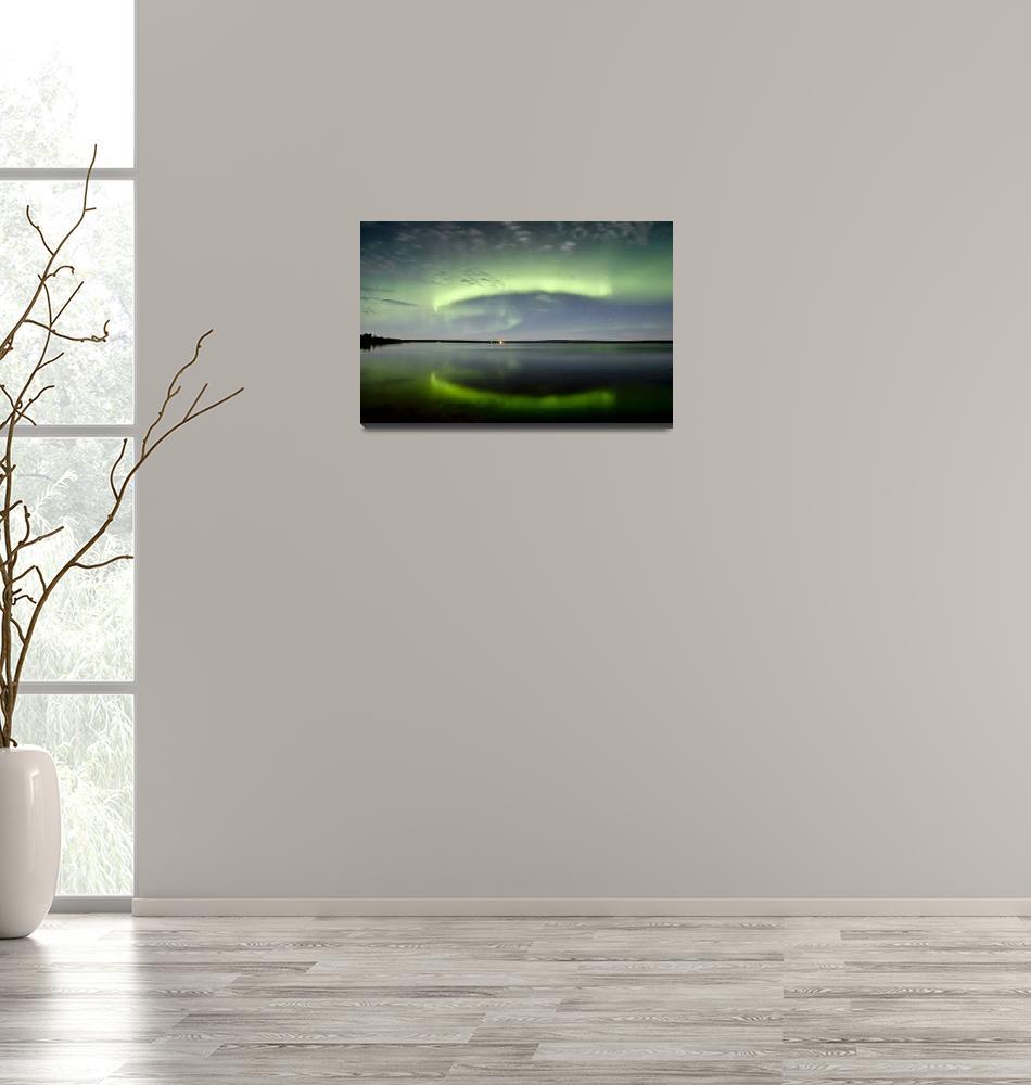 """Aurora and the Leonids at Sturgeon Lake Alberta Ca""  by stocktrekimages"