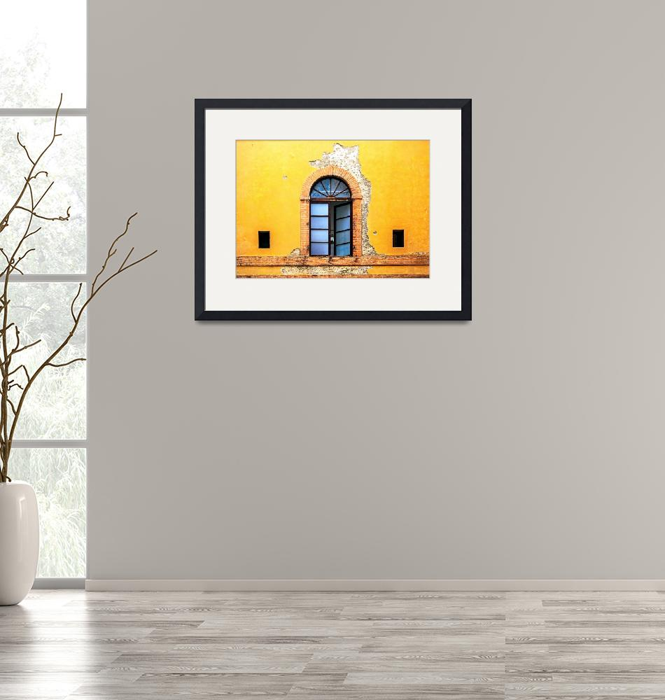 """""""Window on Colorful Wall in Siena Italy""""  (2014) by ADogsLifePhoto"""