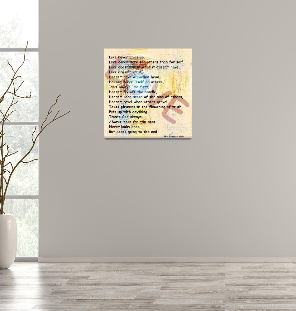 """""""love message weathered paint subtle""""  by lizmix"""