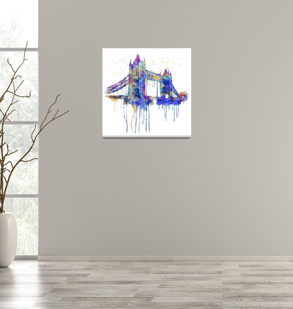 """Tower Bridge Watercolor""  (2015) by MarianVoicu"