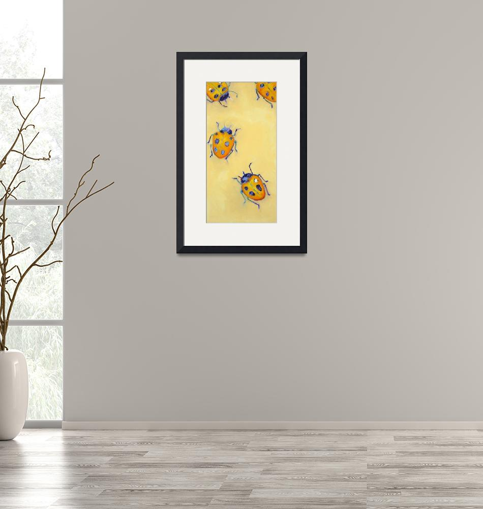 """""""Yellow Ladybugs""""  by AnnTuck"""