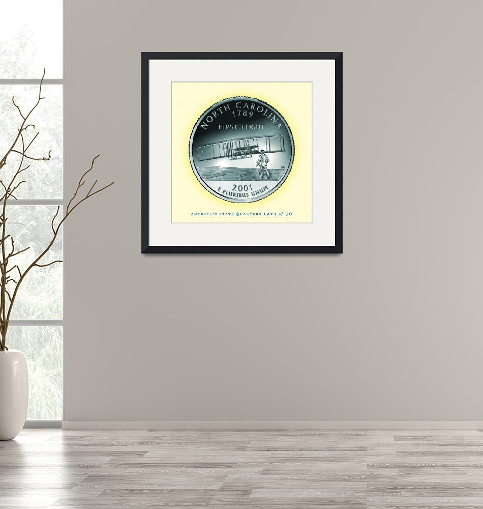 """""""North Carolina State Quarter - Portrait Coin 12""""  (2017) by statequarters"""