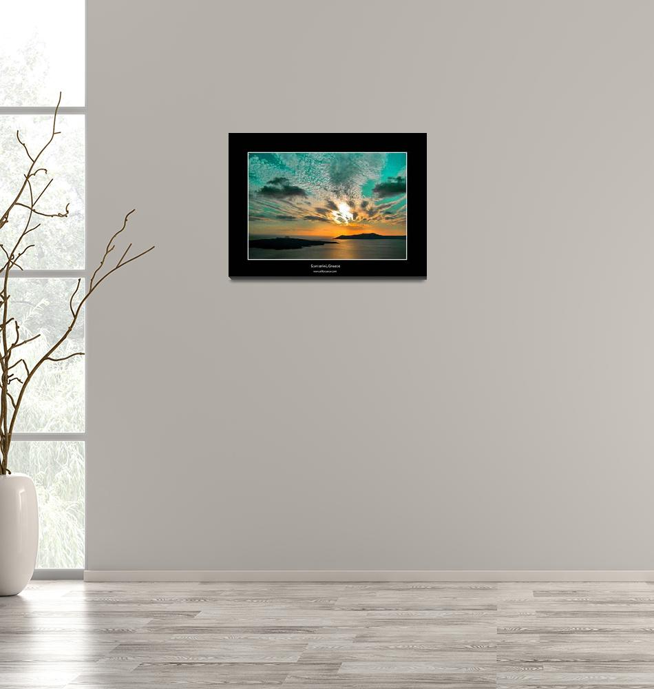 """Santorini Sunset 092109-715""  (2009) by artforcancer"