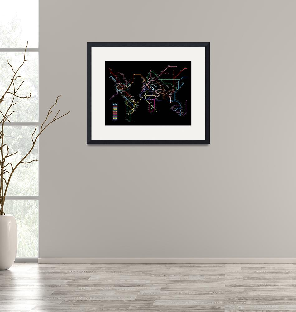 """World Metro Map""  (2010) by ModernArtPrints"