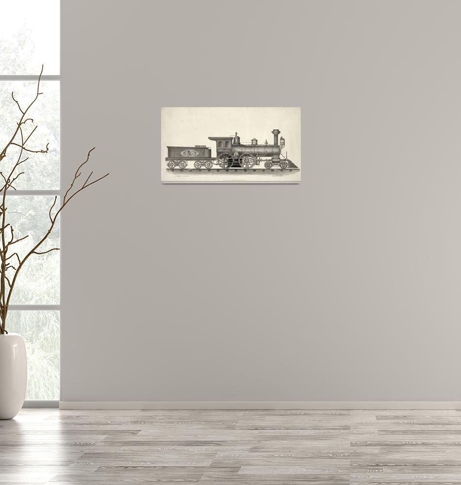 """""""unknown artist~19th century steam locomotive engin""""  by Old_master"""
