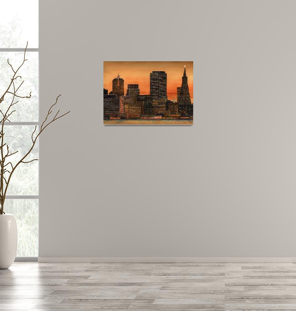 """San Francisco Skyline""  (2008) by msrite1"