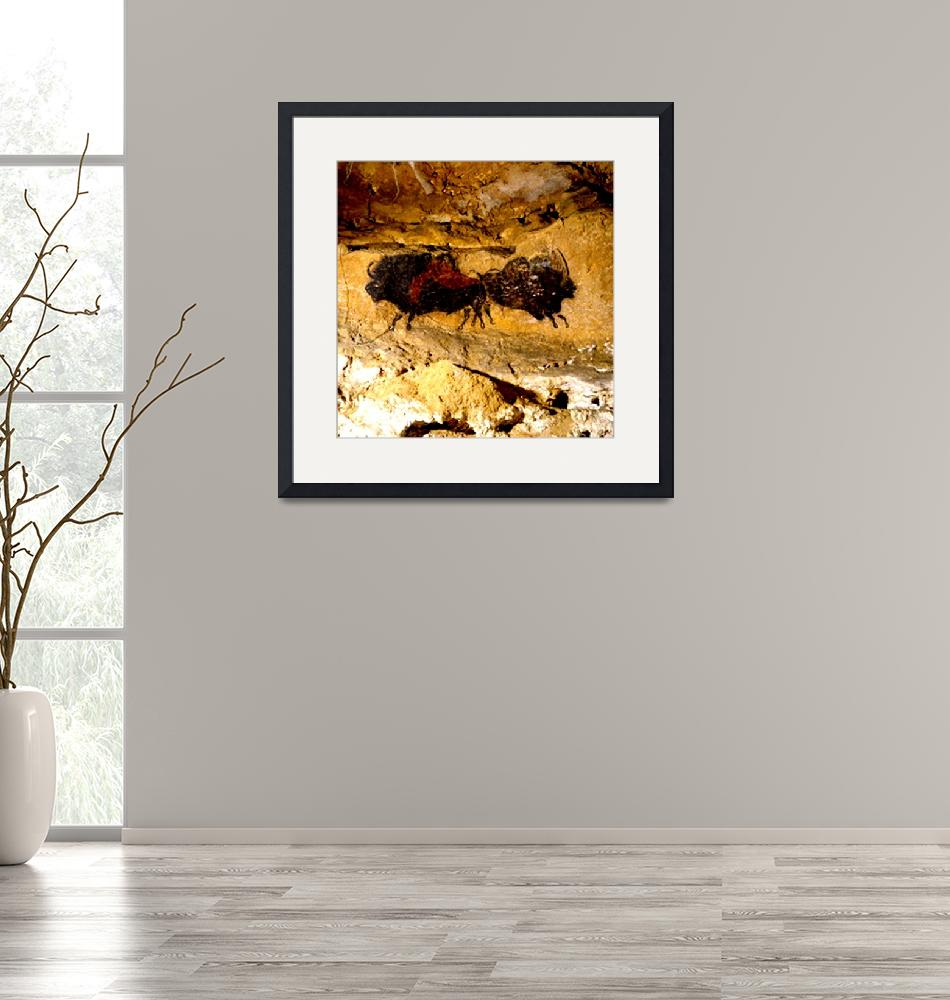 """2 Buffalo Lascaux Cave SE France""  (2014) by TheNorthernTerritory"