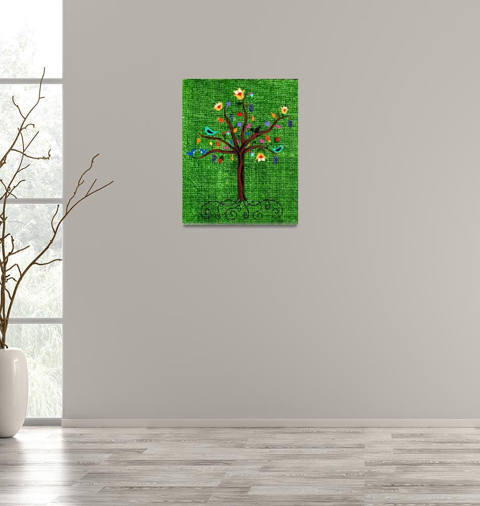 """Tree of Life""  (2013) by LimeCreekArt"