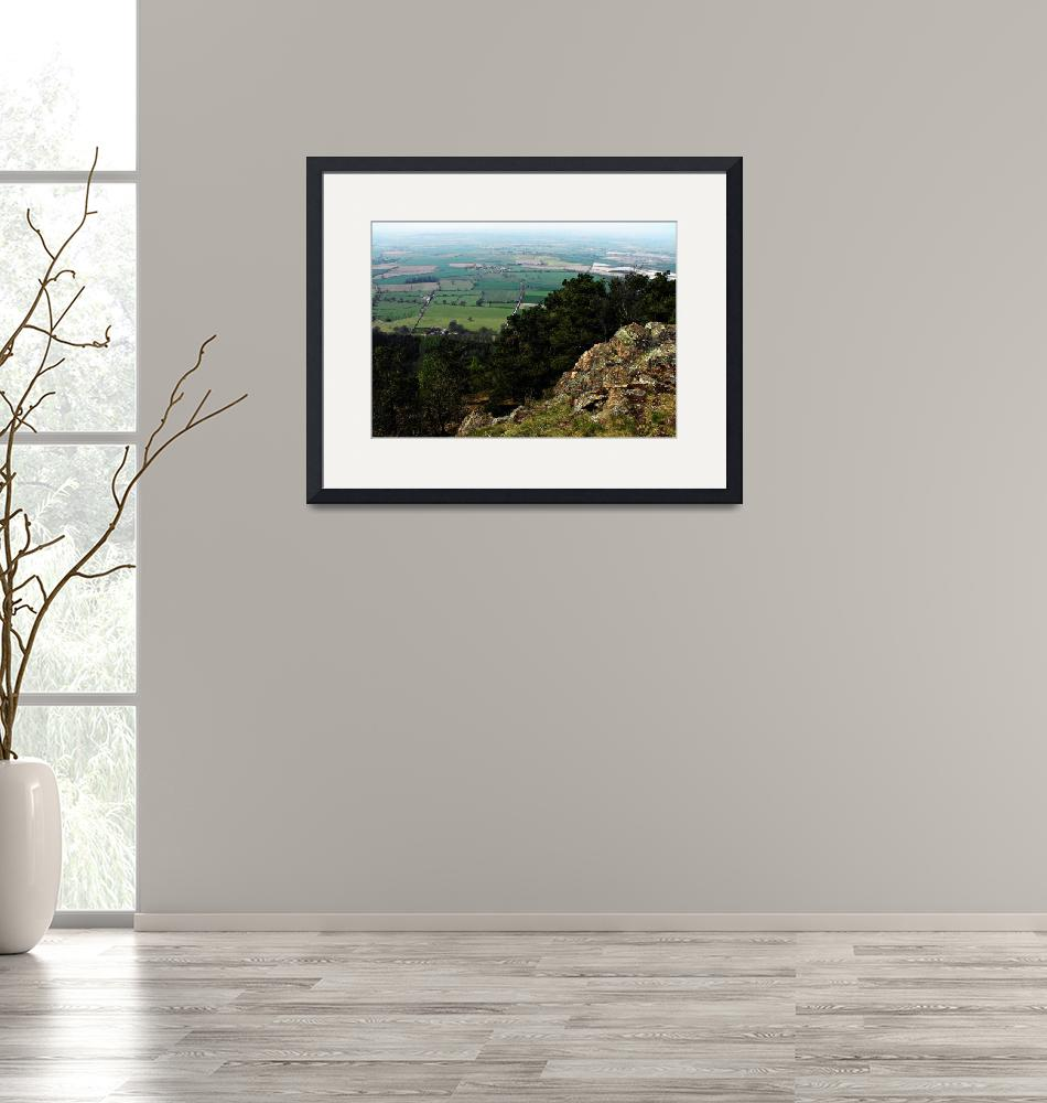 """""""View from the Wrekin Hill, Shropshire""""  (2010) by Linandara"""