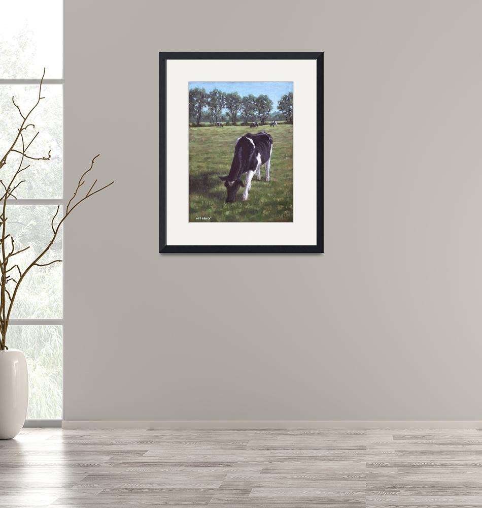 """""""Cow in field at Throop,UK""""  (2011) by martindavey"""