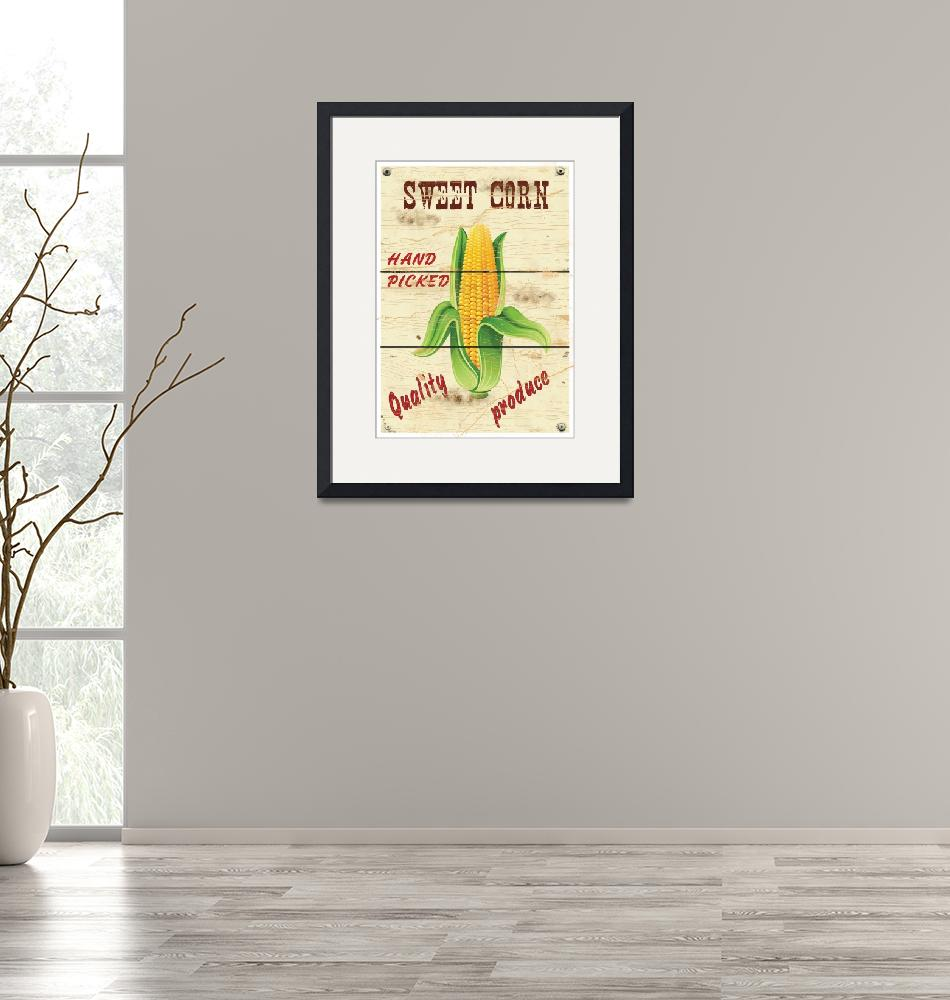 """""""Corn poster"""" (2011) by HelloToYouAll"""