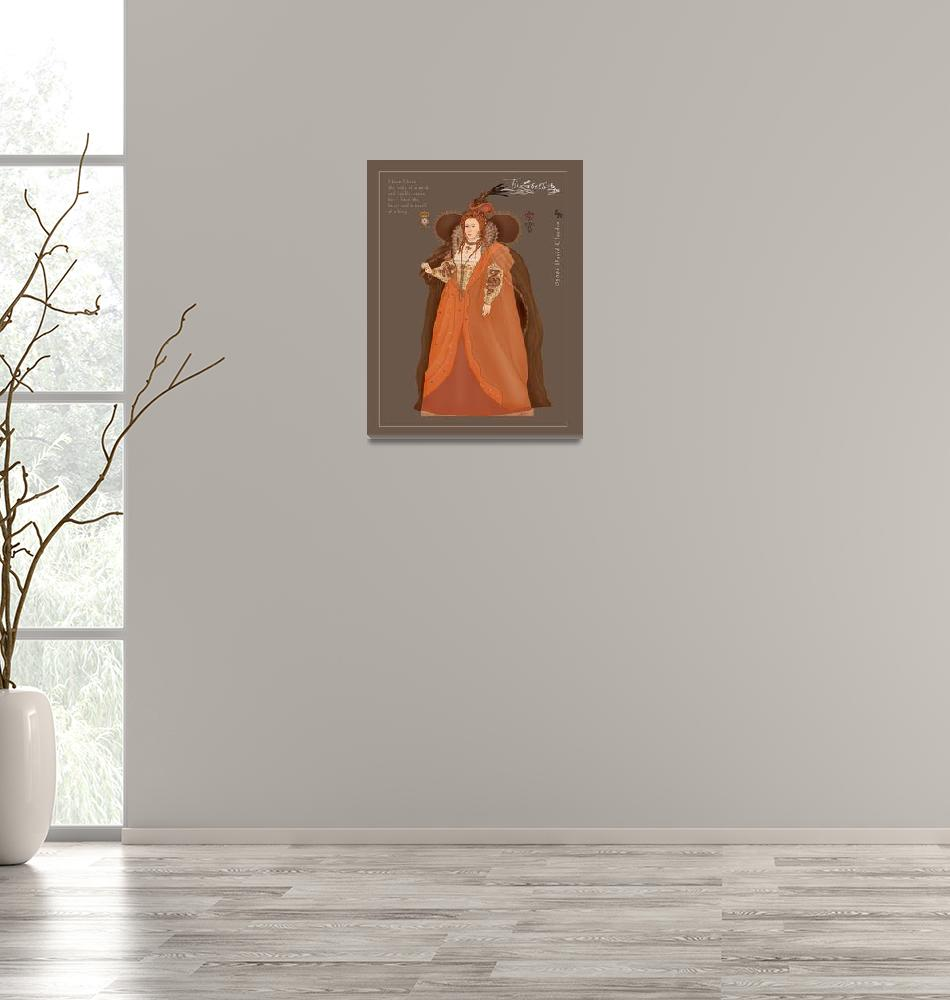 """The Rainbow Portrait of Elizabeth R.""  (2006) by davidclaudon"
