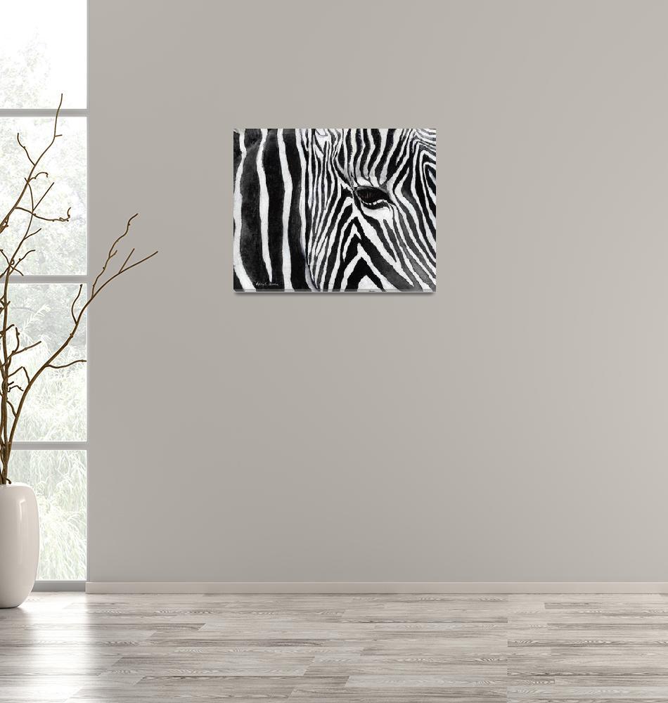 """""""Zebra Eye""""  (2013) by HaileyWatermedia"""