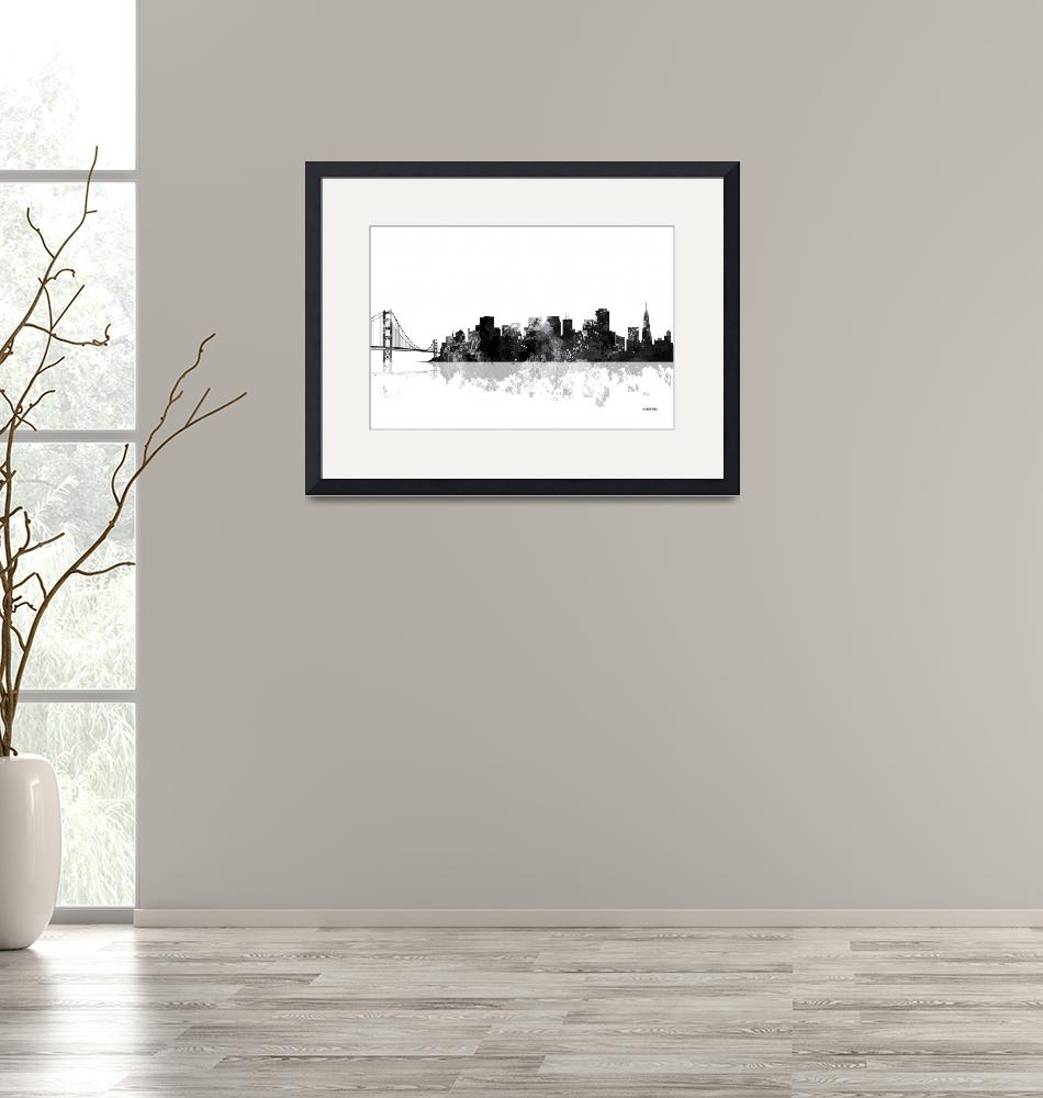 """San Francisco California Skyline""  by MarleneWatson"