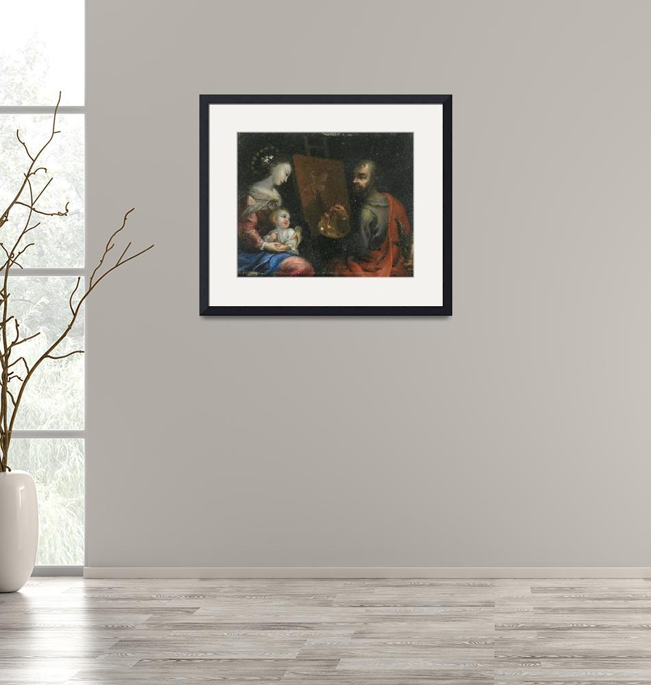 """""""Central European Painter~Saint Luke Painting the V""""  by Old_master"""