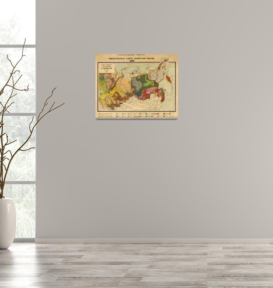 """""""Vintage Geological Map of Russia (1922)""""  by Alleycatshirts"""