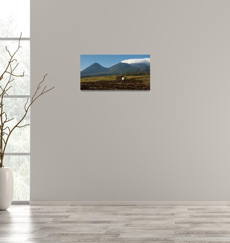 """Truck and Volcano Range""  (2009) by Burntalex"