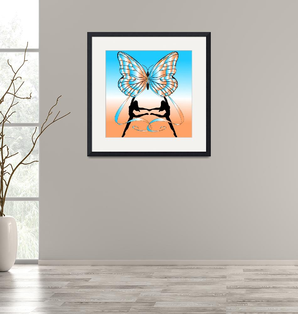 """""""Dancing Girls with Butterfly""""  (2007) by Chatterbox"""