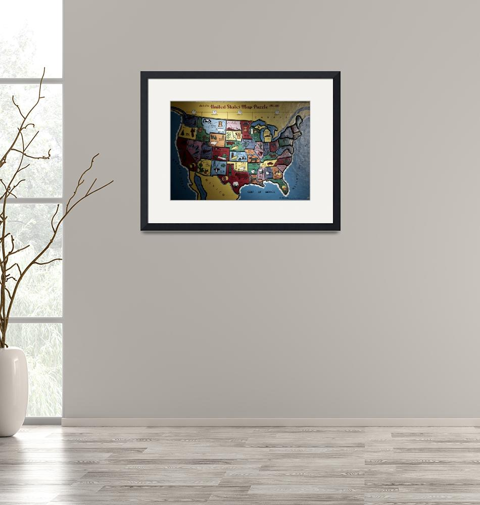 """""""united states map puzzle""""  (2002) by atlasphotographic"""