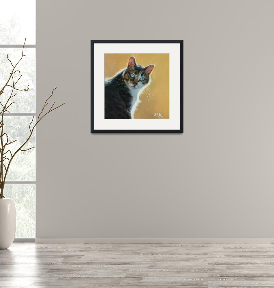 """""""Tabby on Gold""""  (2020) by soniakane"""