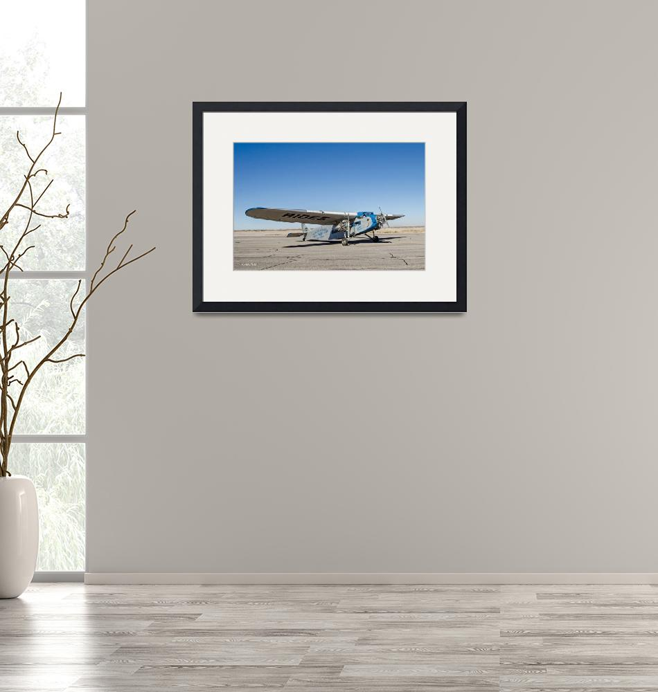 """Ford Tri-Motor Taxiing""  (2015) by awsheffield"