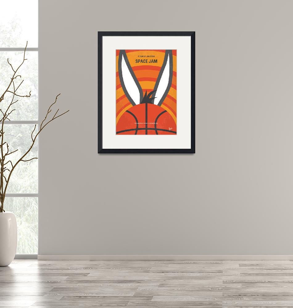 """""""No690 My Space Jam minimal movie poster""""  by Chungkong"""