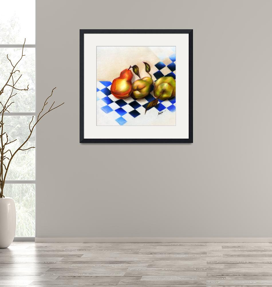"""""""Pears on the Harlequin""""  (2011) by AlmaLee"""