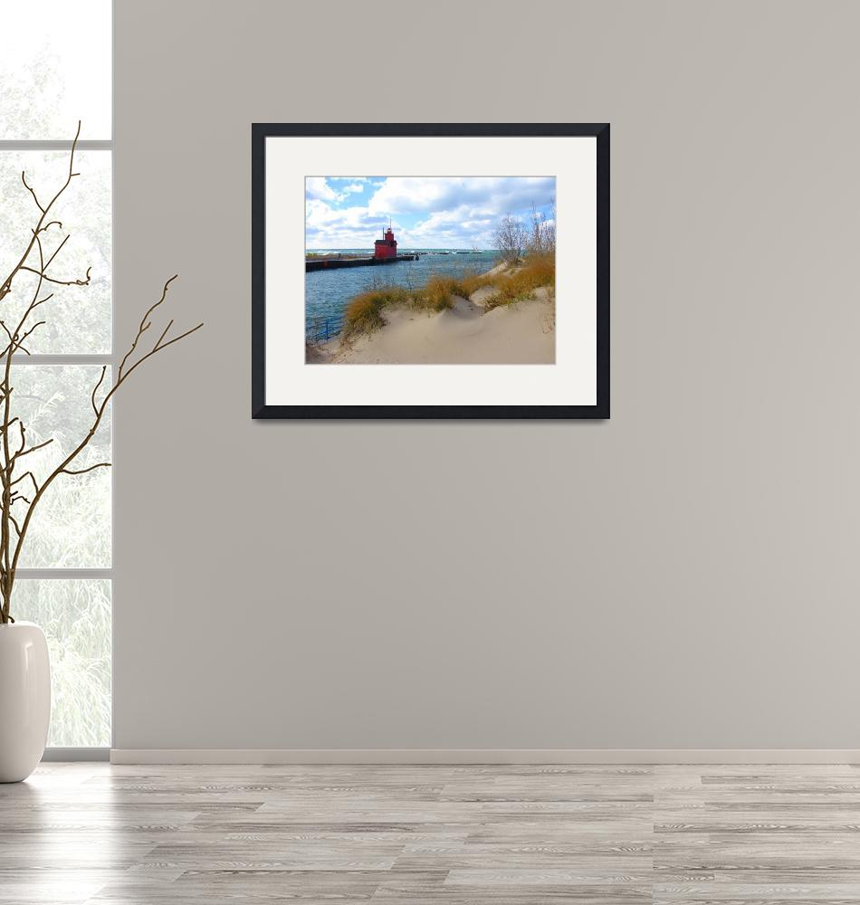 """""""Holland Harbor Light - Big Red""""  (2009) by Michelle1991"""