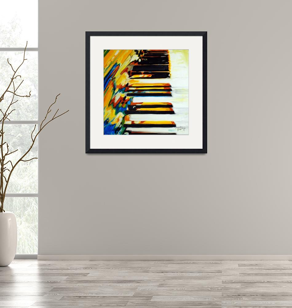 """JAZZ PIANO ABSTRACT"" (2011) by MBaldwinFineArt2006"