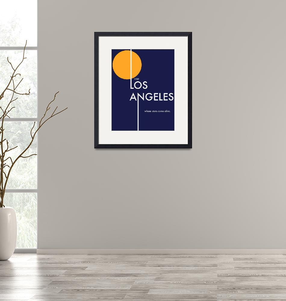 """Los Angeles Travel Poster"" (2009) by bradleyhuff"