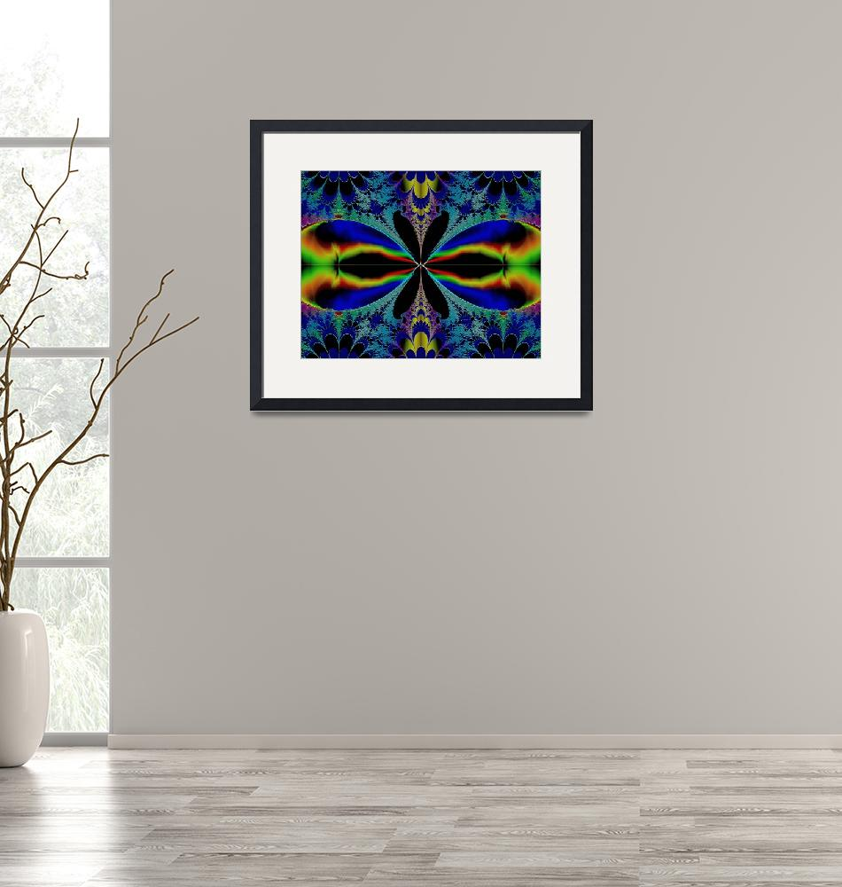 """""""Fractal Butterfly? Dragonfly? Bright Colors 08""""  (2008) by flowerswithfeelings"""