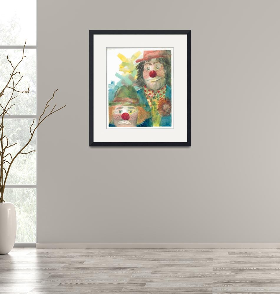 """""""Clown Faces""""  (2000) by DoyleArts"""
