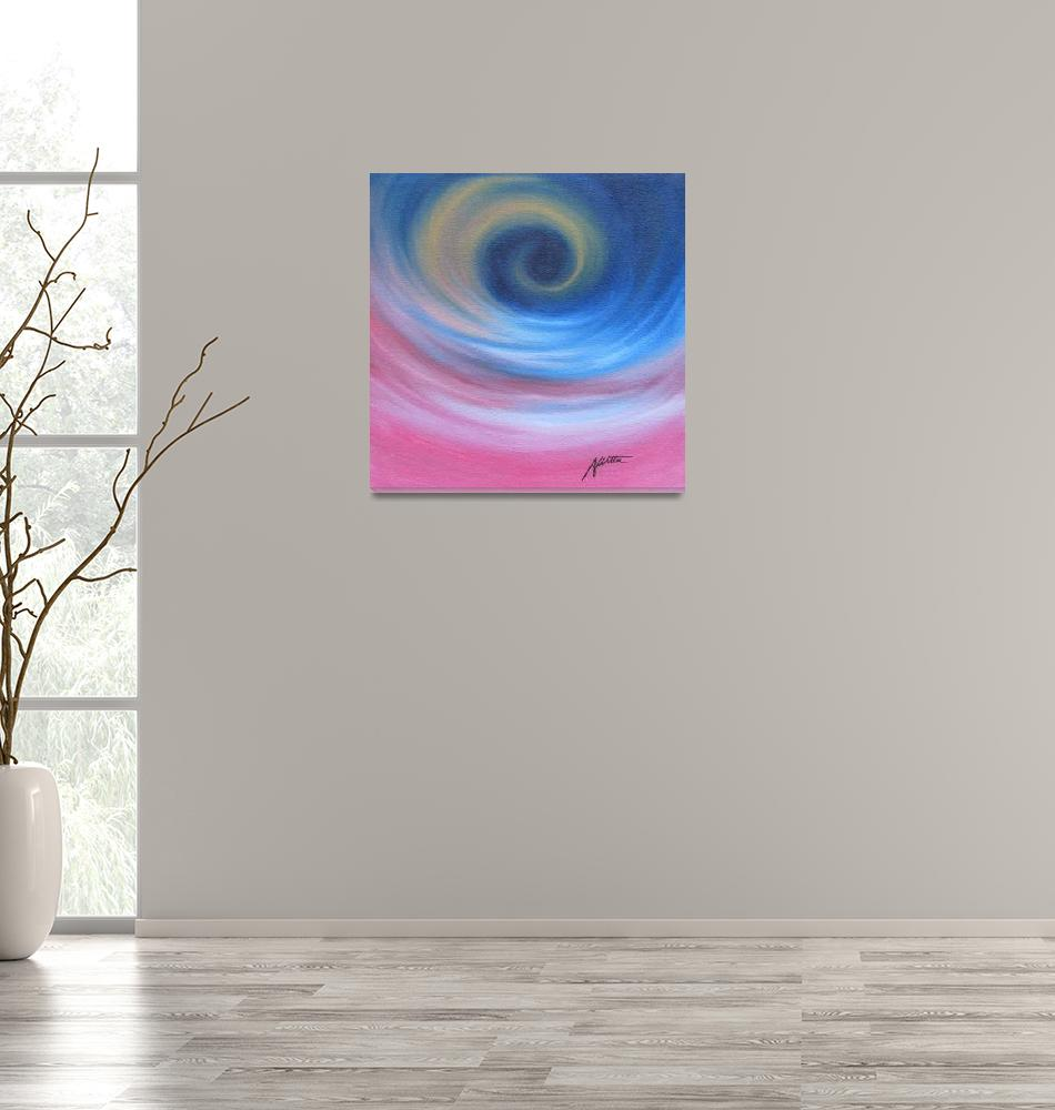 """""""Pink and Blue Spiral""""  (2010) by ryanwitterarts"""
