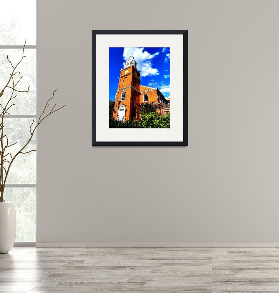 """Old Otterbein United Methodist Church""  (2020) by Artsart"