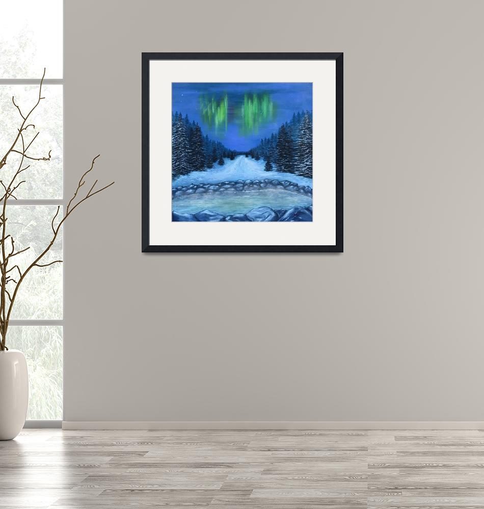 """""""Hot Springs and Aurora Borealis""""  (2017) by Karbstein"""