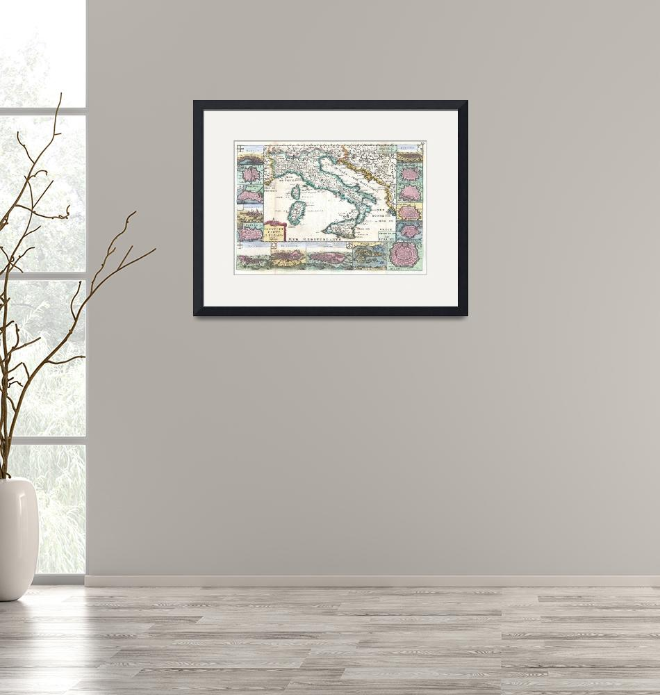 """""""Map of Italy de Lafeuille""""  by FineArtClassics"""