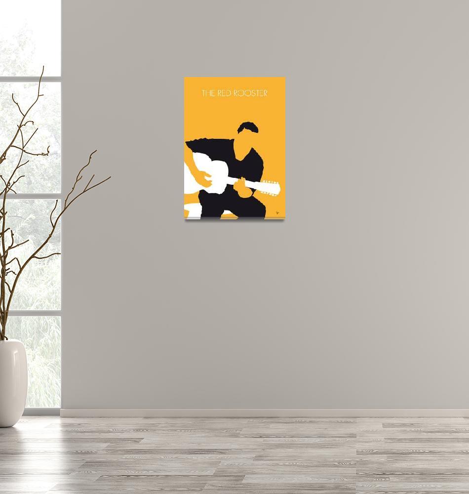 """No124 MY Howlin Wolf Minimal Music poster""  by Chungkong"