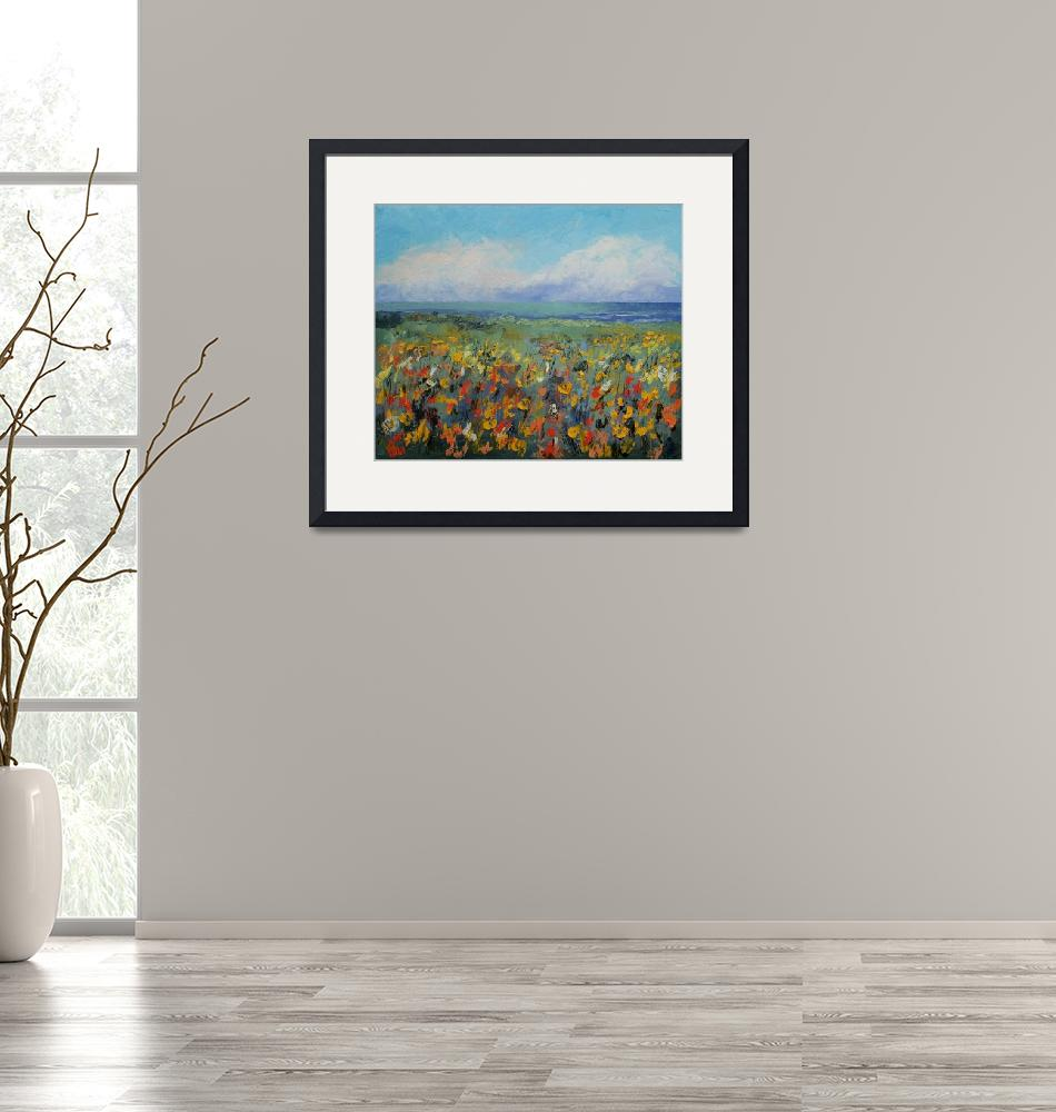"""Wildflower Seascape""  by creese"