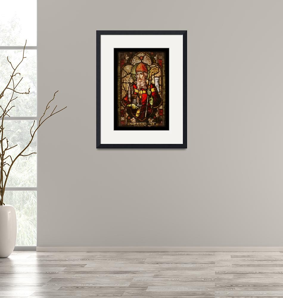 """""""Saint Patrick Historic Stained Glass""""  (2015) by dianeaddis"""