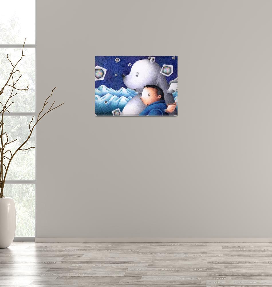 """""""Fantasy art - Polar bear and I""""  (2008) by t-koni"""