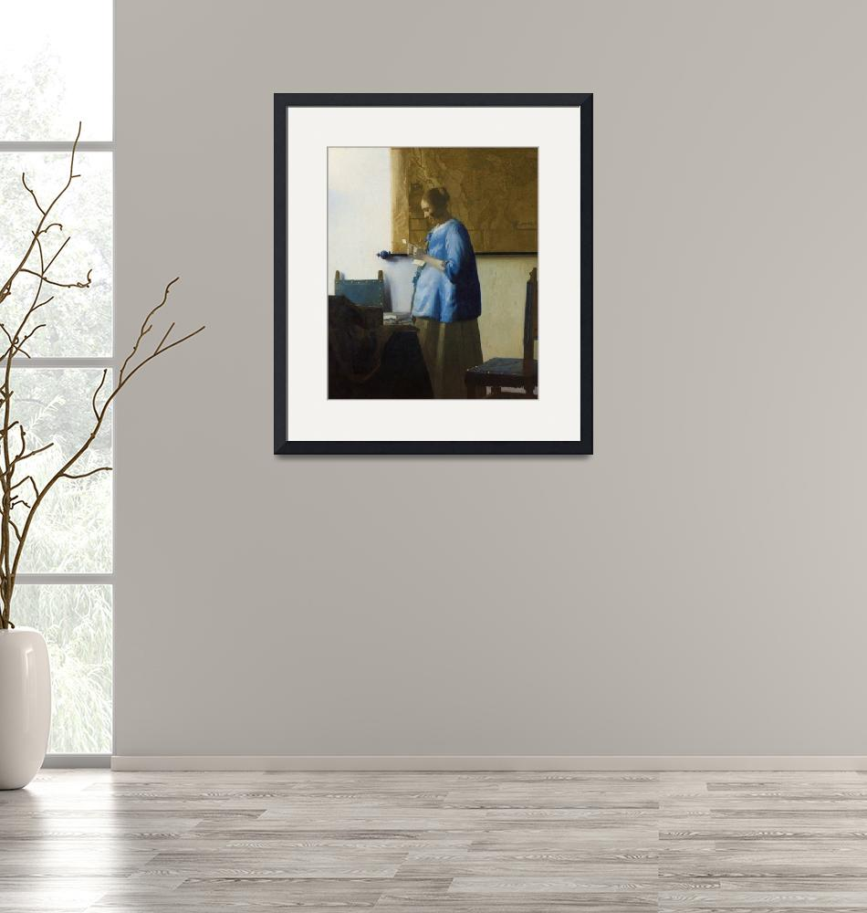 """Woman Reading a Letter by Johannes Vermeer""  by FineArtClassics"