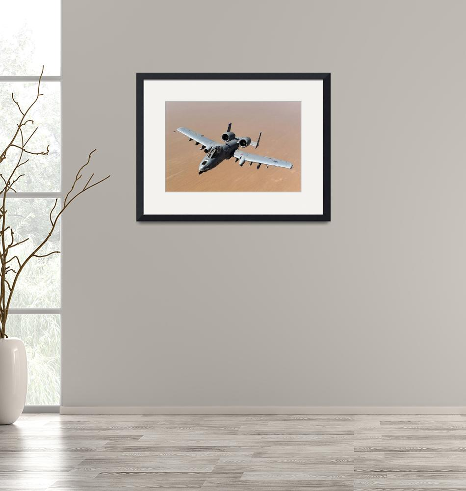 """An A-10 Thunderbolt II over the skies of Afghanist""  by stocktrekimages"