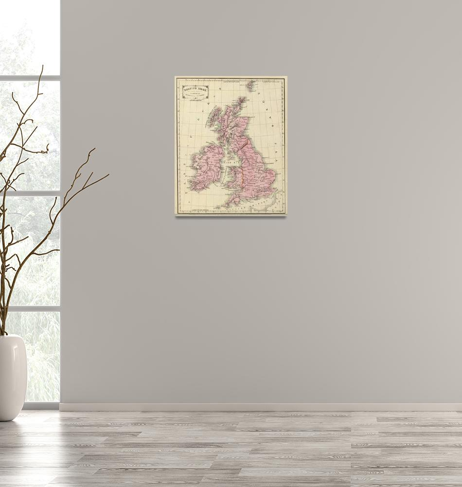 """Vintage Map of The British Isles (1864)""  by Alleycatshirts"