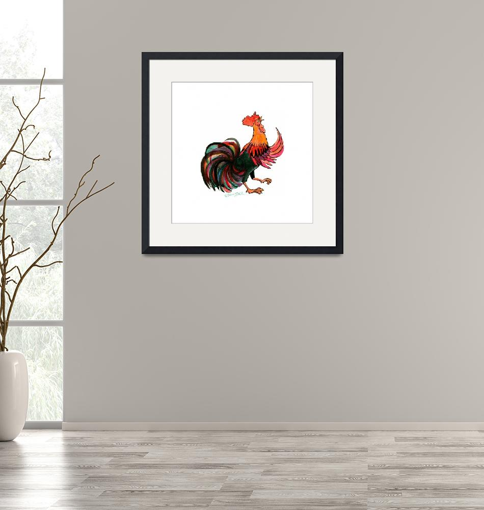 """""""Rooster""""  (2017) by wingedrabbit"""
