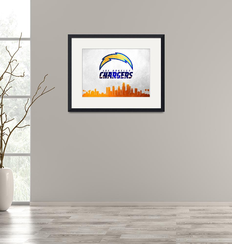 """Los Angeles Chargers Skyline""  (2019) by ABConcepts"
