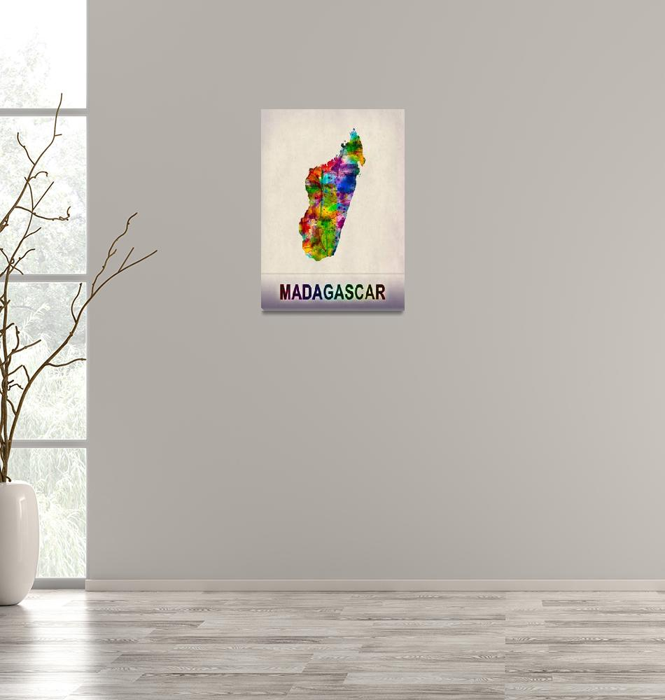 """""""Madagascar Map""""  by Towseef"""