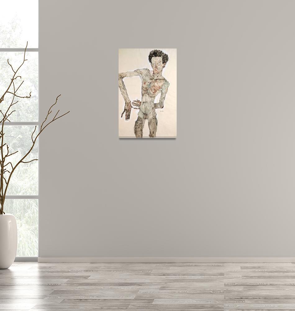 """Austria Vienna Self-Portrait mixed media""  by fineartmasters"