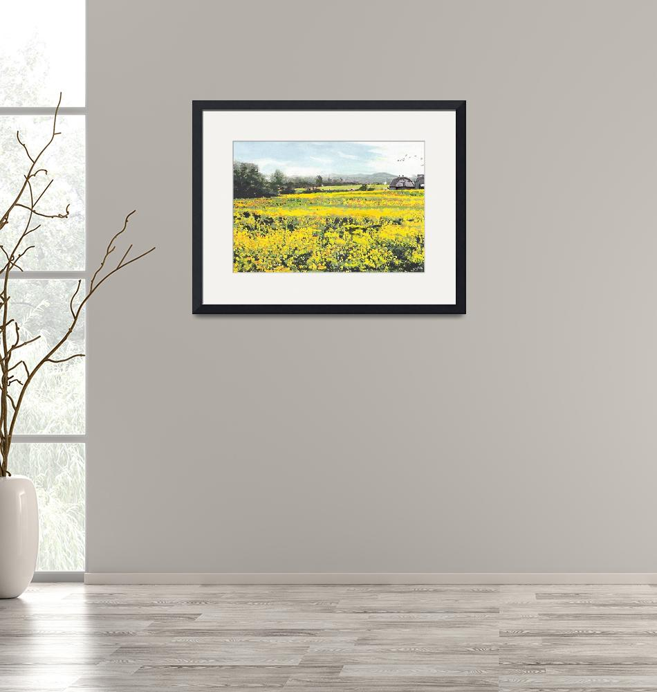 """""""SPRING COLORS YELLOW MUSTARD FIELDS MARYLAND LANDS""""  by grl"""