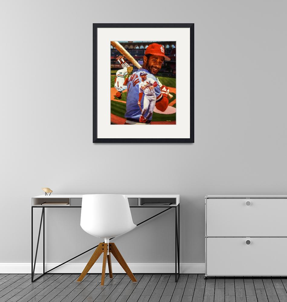 """""""Ozzie Smith St Louis Cardinals MLB Baseball Busch""""  by Richimage"""
