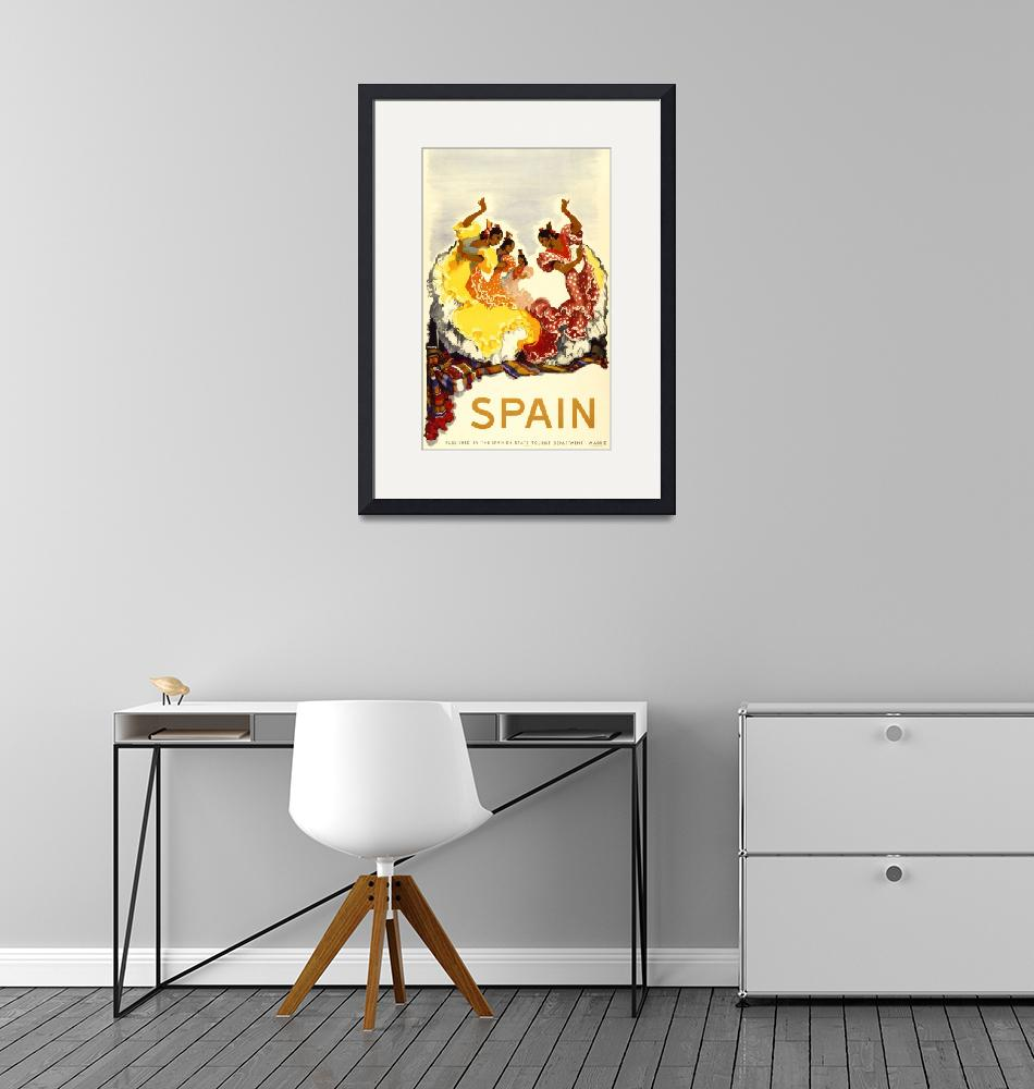 """""""Madrid, Spain Vintage Travel Poster""""  by FineArtClassics"""